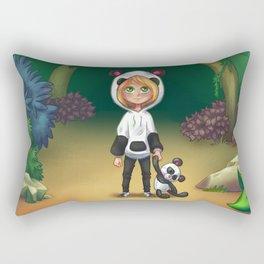 Anime Panda Child Rectangular Pillow