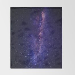 Space milky way Throw Blanket