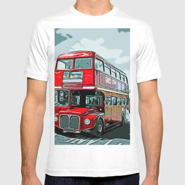 Double-decker Bus Double Floor Driving Right Anglophone Ideology T-shirt