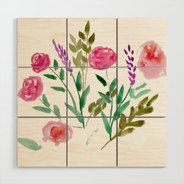 Country Bouquet Wood Wall Art