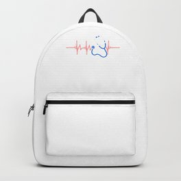 Health Check Surgeon Physician Medic Hospital Doctor Heartbeat Medical Gift Backpack