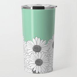 Daisy Boarder Mint Travel Mug