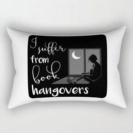 I suffer from book hangovers  Rectangular Pillow