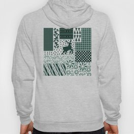 Holiday Green Quilt Design Hoody