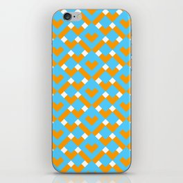 Graphic Hearts Pattern iPhone Skin