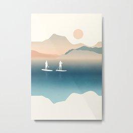 Paddle Board Print Metal Print