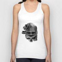 skulls Tank Tops featuring Skulls by TattoosandartbyJared