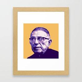 Jean-Paul Sartre Framed Art Print