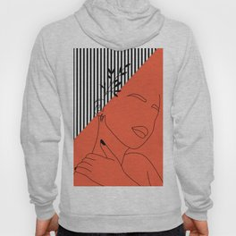 Oriental Abstract Lined Artwork. Hoody
