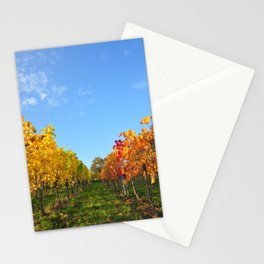 Mosel Riesling Grapevines in Autumn #5 Stationery Cards