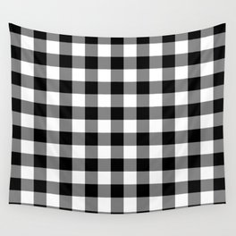 Gingham (Black/White) Wall Tapestry