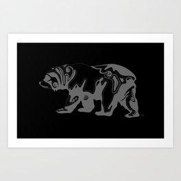Cali Bear II Art Print