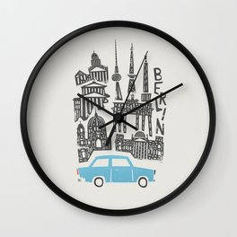 Berlin Cityscape Wall Clock