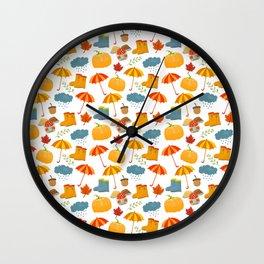 New Fall Rainy Days Wall Clock