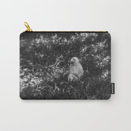 Black and White photo of African White Baboon Carry-All Pouch