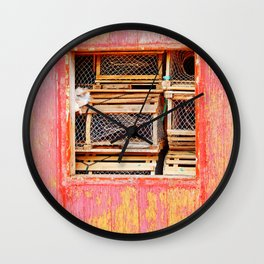 Lobster Trap Shack Wall Clock