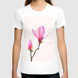 magnolia watercolor painting T-shirt