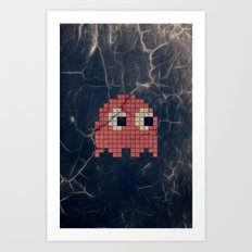 Pac-Man Pink Ghost Art Print