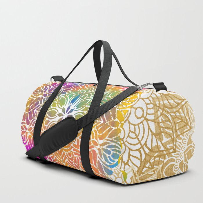 Beautiful Colorful Bohemian Mandala Pattern Duffle Bag
