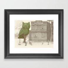 The Night Gardener - The Owl Tree Framed Art Print
