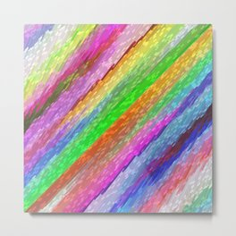 Colorful digital art splashing G479 Metal Print