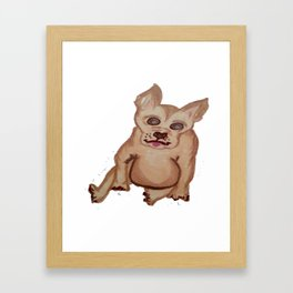 Dog with pointy ears Framed Art Print