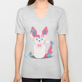 Evolution Bobbles - Sylveon Unisex V-Neck
