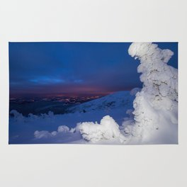 Winter in the Giant Mountains Rug