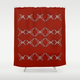 Stars Parade-red Shower Curtain