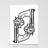 guns Stationery Cards featuring Guns by Calyx Studio