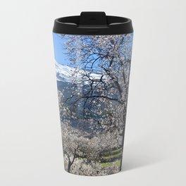 """""""Flowering Almonds"""". At The Mountains Metal Travel Mug"""