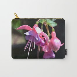 Fuchsia Flower Photo close up showing the pink and purple petals in high detail Carry-All Pouch