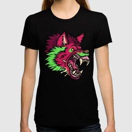 Pink Punk Wolf T-shirt