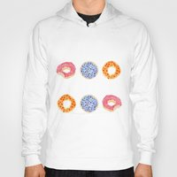 doughnut Hoodies featuring doughnut selection by cardboardcities