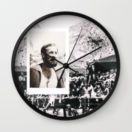 Hipsters from 1970. Wall Clock