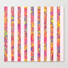 Sherbert Lines Canvas Print