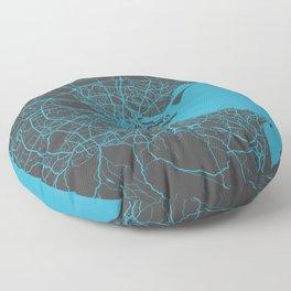 Dublin map blue Floor Pillow