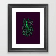 Love Squid Framed Art Print