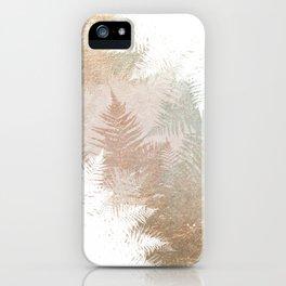 Fern Snowflakes - Golden, bronze & Sage iPhone Case