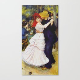 Auguste Renoir - Dance At Bougival 1883. Canvas Print