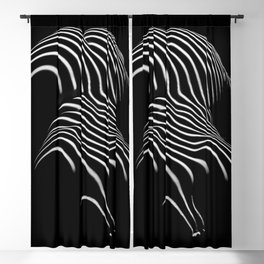 0721-AR Nude Female Naked BBW Geometric Black White Naked Body Abstracted Sensual Sexy Erotic Art Blackout Curtain
