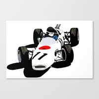 honda Canvas Prints featuring Honda RA272 by Arch Duke Maxyenko