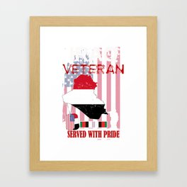 Iraq Veteran Memorial Day Veterans Day Gift Design Idea Framed Art Print