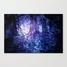 The Wishing Tree : Purple Blue Canvas Print