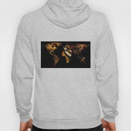 World Map Silhouette - Mexican Food Hoody