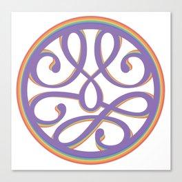 Rainbow mandala swoosh Canvas Print