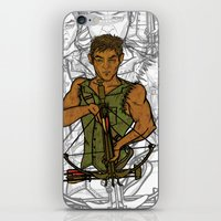 daryl iPhone & iPod Skins featuring Daryl by Aqua Ink Graphics