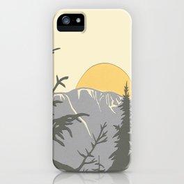 Ski Mountain Sun and Trees - Breckenridge  iPhone Case