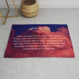 Jeff Bezos Quote On Leaning In To The Future Rug