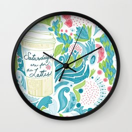 Saturdays are for the Lattes Wall Clock